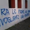 """""""Rivogliamo il Fbc Saronno"""": scritte sullo stadio"""