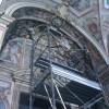 Angelo caduto, chiesa di San Francesco transennata