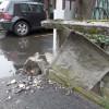 Scontro al Matteotti: recinzione a pezzi