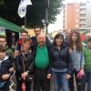 I leghisti attendono Matteo Salvini in piazza