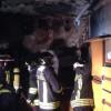 Incendio nella villetta, cucina distrutta