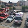 Soccorsi schierati, la piazza piena di ambulanze e autopompe