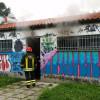 Incendio nello spogliatoio al Matteotti