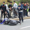 Cade dalla moto in via Piave, donna finisce all'ospedale