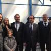 Il presidente francese Hollande visita la Adr di Uboldo