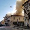 Incendio in via San Giuseppe: chiusa la strada invasa dal fumo
