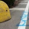 """Bestemmia sull'asfalto al Matteotti, residenti indignati: """"Cancellatela"""""""