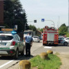 Uboldo, scontro in via 4 novembre: auto incastrate contro il muro