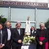 Raffaele Cattaneo accoglie l'effige della Madonna pellegrina