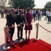 Fagioli e Comi all'inaugurazione della nuova ala della Tci