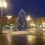 neve in piazza libertà