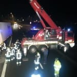 camion ribaltato autostrada origgio uboldo (1)