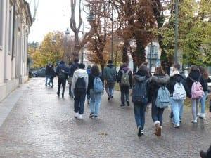 studenti inverno viale santuario