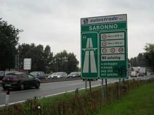 autostrada svincolo saronno