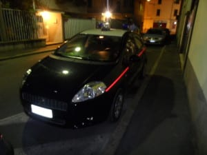 23082013 pirata via Visconti (3) carabinieri notte