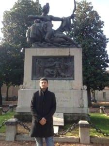 silighini al monumento ai caduti
