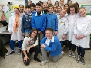 ilsaronno a scuola sara giudici con la 5A della san pietro martire seveso