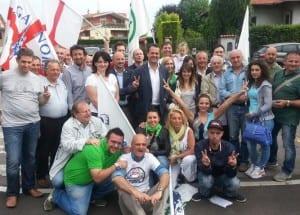 dante cattaneo festeggia rielezione 2014