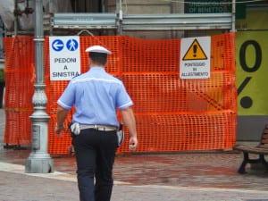 polizia locale cantiere