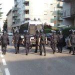 27092014 corteo contro sgombero telos forze dell'ordine (9)