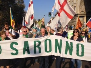 lega nord saronno in piazza a Milano stop immigrazione (4)