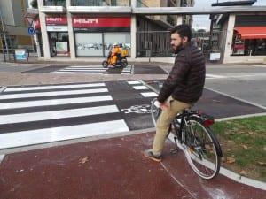 10122014 romanò prova la ciclabile di via Varese (6)