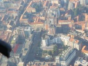 piazza de gasperi saronno dall'alto