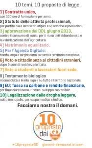 10 proposte giovani democratici