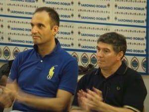 presentazione saronno robur marnate 2015-2016 (6) ds volpi e allenatore leo