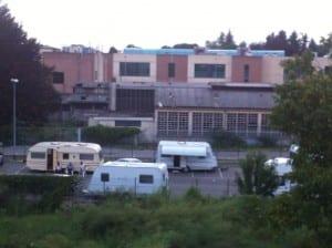 nomadi parcheggio viale rezia