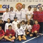 La squadra di A1 del Ct Ceriano con alcuni giovani tifosi, la mente è già proiettata all'incontro casalingo di domenica prossima contro Albinea (Reggio Emilia)
