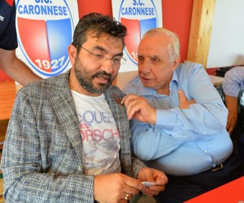 Il presidente Giuseppe Pirola con Augusto Reina