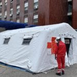 20200314 coronavirus tende ospedale busto arsizio