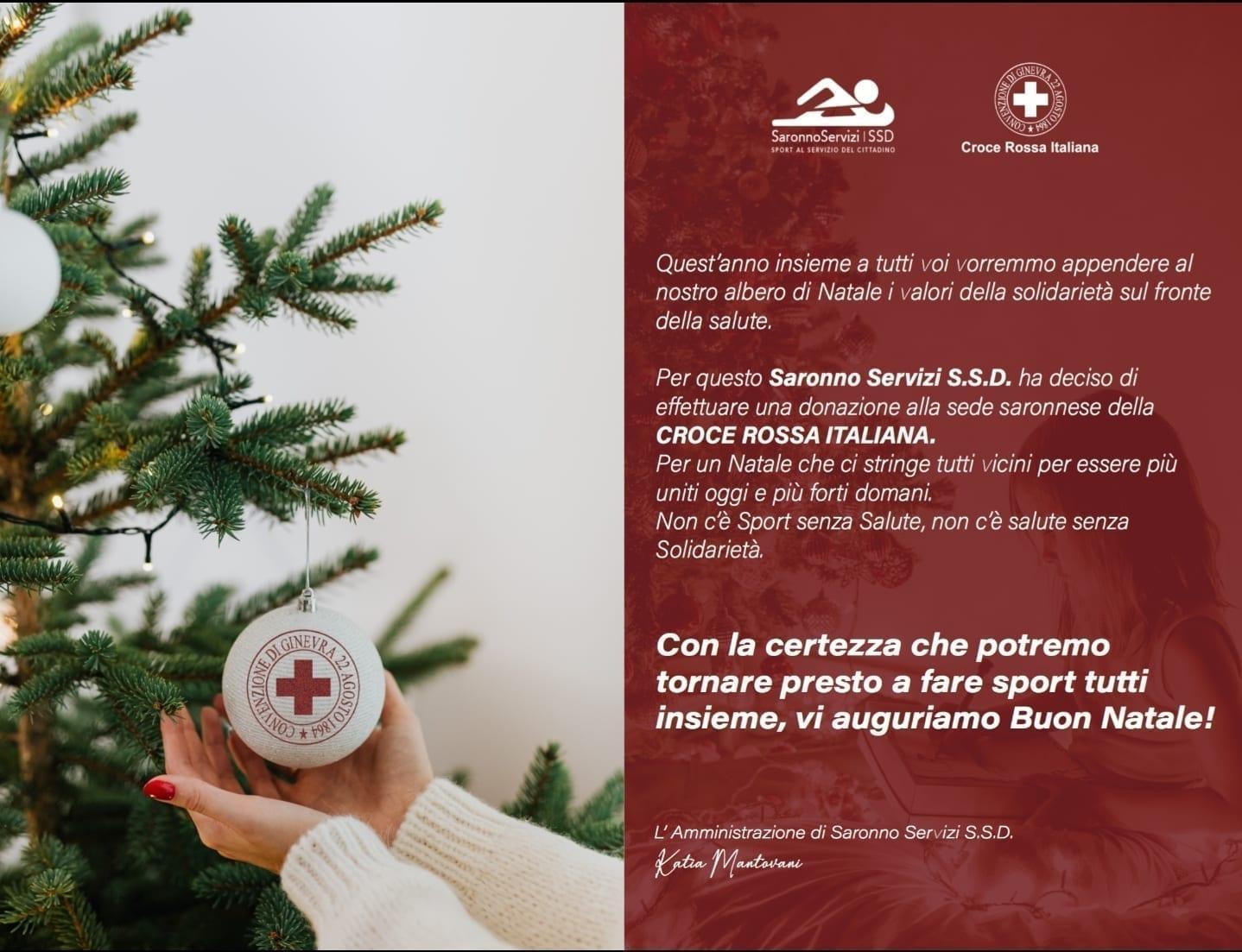Auguri Di Natale Per Sportivi.Natale Saronno Servizi Ssd Si Regala Una Donazione A Croce Rossa Saronno Ilsaronno